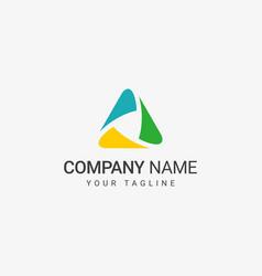 Triangle shape logo vector