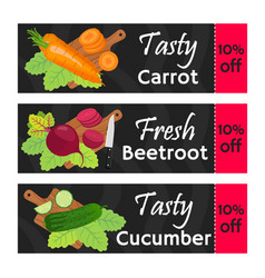 Vegetables sale - organic vegetarian nutrition vector
