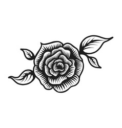Vintage beautiful rose flower template vector