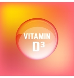 Vitamin D3 02 A vector image vector image