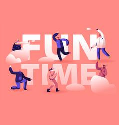 winter holidays festive season fun time concept vector image