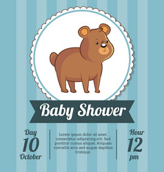 baby shower card invitation save date with cute vector image vector image