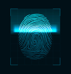 fingerprint scanning concept digital biometric vector image