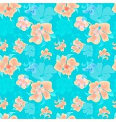 Ornate floral endless pattern vector image vector image