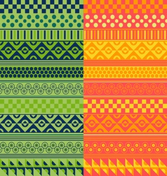 Texture with geometrical ornaments vector image