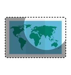 World paper map icon vector