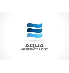 Abstract logo for business company eco ocean vector