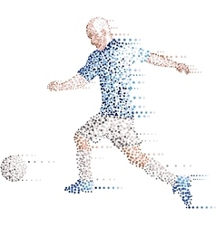 Abstract modern dots football soccer player kick vector image vector image