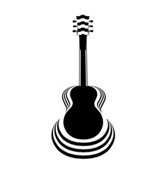acoustic guitar cutout vector image vector image