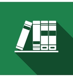 Books icons icon with long shadow vector image vector image