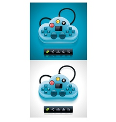 gamers cloud computing xxl icon vector image vector image