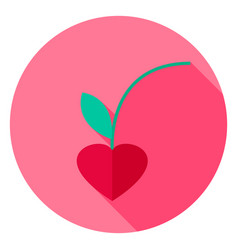 lovely cherry circle icon vector image