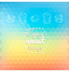 Macarons sweets background card vector image vector image