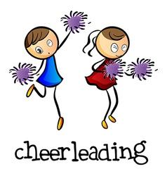 Cheerleaders dancing vector image
