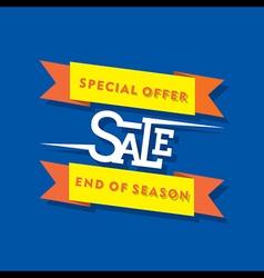 creative special offer sale banner design vector image