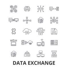 data exchange internet transfer connection vector image