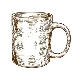 Engraving mug vector
