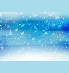 falling snowflakes on a painted background vector image vector image