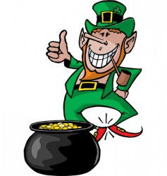 leprechaun with pot vector image vector image