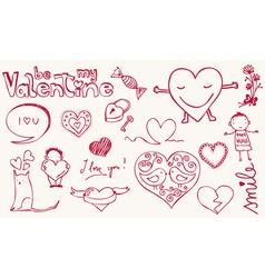 Love doodles vector