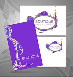 Boutique luxury prestige logo vector image