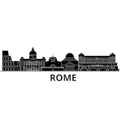 Rome architecture city skyline travel vector