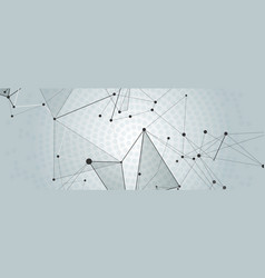 abstract creative connect background vector image