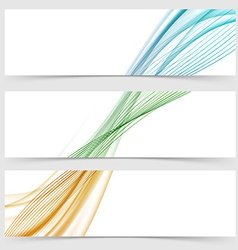 Abstract header collection with modern swoosh line vector image