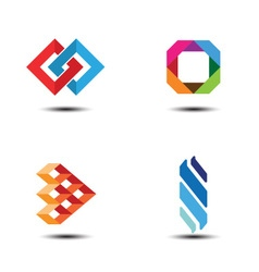 Abstract logo design elements vector