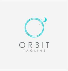Abstract minimalist motion orbit logo icon vector