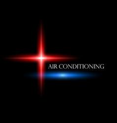 Air conditioner abstraction symbol vector