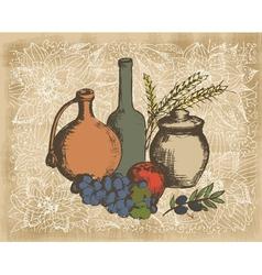 art vegetables4 vector image