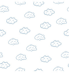 Awesome seamless pattern with cute sleeping vector