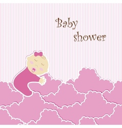Baby shower - girl vector image