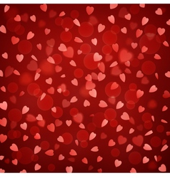 Background with falling hearts vector