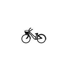 bicycle mono line logo designs inspiration vector image