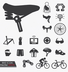 Bike icon set vector