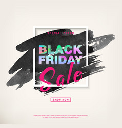 black friday special offer sale banner vector image