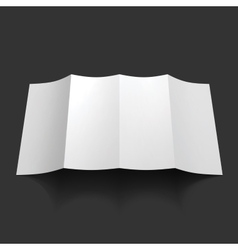 Blank trifold paper brochure mockup vector image