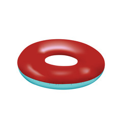 Blue and red swim ring vector