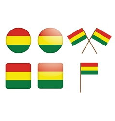 Bolivia Flag Badge vector image