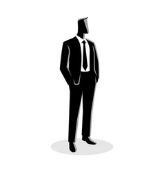 businessman in suit standing vector image