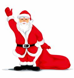 Christmas santa grandfather vector