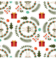 christmas seamless pattern with the image of a vector image