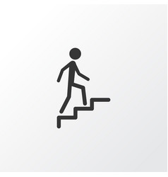 climbing stairs icon symbol premium quality vector image