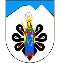 coat of arms of tatra county in lesser vector image