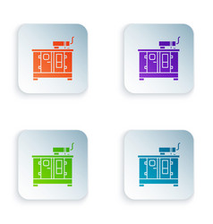 Color diesel power generator icon isolated on vector