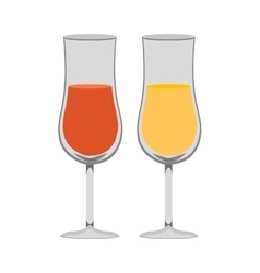 colorful beach cocktails graphic vector image