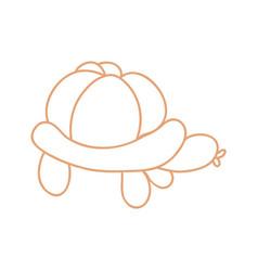 Cute cartoon unisex turtle balloon animal vector