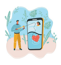 dating app on phone vector image